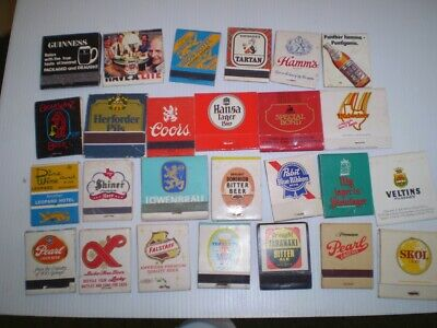 26  old Advertising match books - Beers