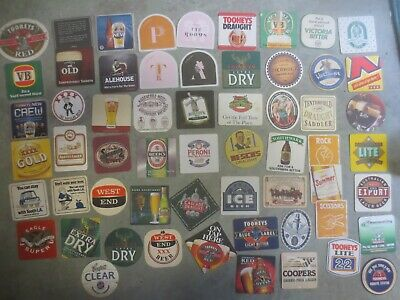 58 different  Australian Breweries  Issued, BEER  COASTERS  collectable