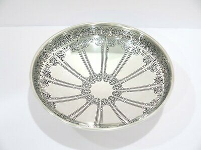 8.75 in Sterling Silver Tiffany & Co. Antique Floral Scroll Footed Serving Bowl