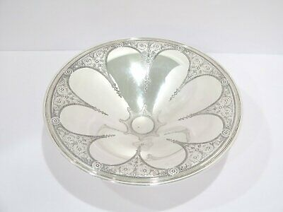 """9 7/8"""" Sterling Silver Tiffany & Co. Antique Floral Ornament Footed Serving Bowl"""