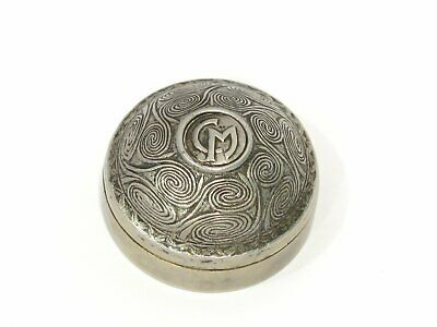 1 5/8 in - 900 Silver ilias LALAoUNIS Antique Greek Pill Box