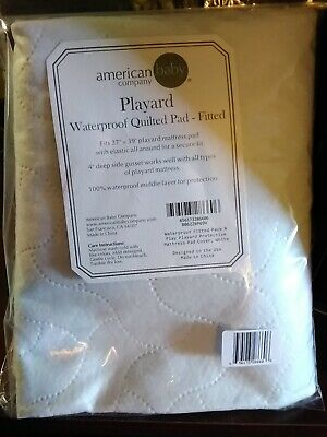 "American Baby Company Waterproof Mattress Pad - Fitted 27"" x 39"" Bed NIB"