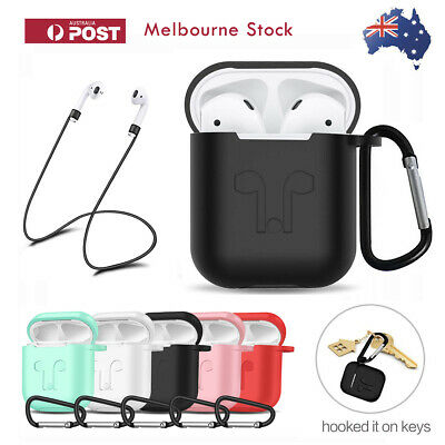 For Apple Airpods Case Cover Skin Anti Lost Strap Airpod Case Shockproof Holder