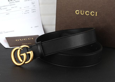 2019hotnew fashion luxury high quality men and women belt gold buckle 3.7cm wide