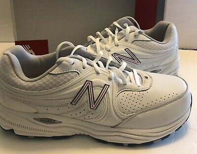 4a7a3b1ea2dd8 New Balance Womens WW840WP Health Walking Shoe Sneakers White Leather 10.5 D
