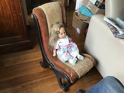 Regency Nursing/Child's Chair With Original Fabric/Upholstery