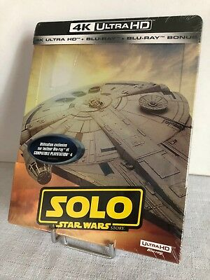 Solo  - A Star Wars Story - Blu Ray 4K Ultra Hd + 2D - Steelbook - Neuf - Sealed