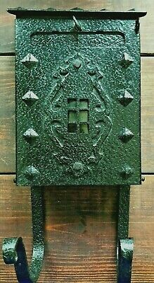 Vintage Original Mailbox Arts&Crafts/Bungalow Black Iron Architectural Antique