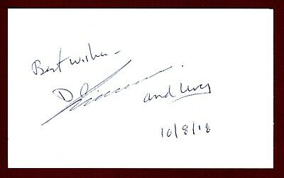 Donald Johanson Anthropologist Author discoverer Lucy skeleton Signed Card 15534