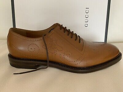 1c4a17cbe2a20 NIB GUCCI MEN'S BETIS GLAMOUR Oxford Lace Up Black Leather Dress ...
