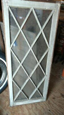 Antique Mission style diamond pane windows -  unusual 20 x 48 size