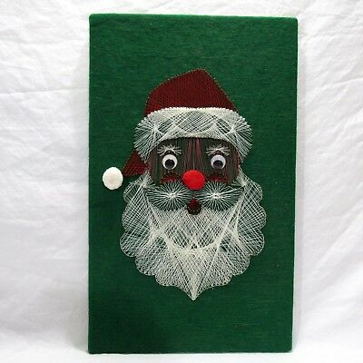 Vtg String Art Completed Santa Saint Nick In Original Box Hazel's Kaboodles