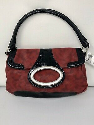 Womens Maurices Red & Black Purse Bag Handbag NWT