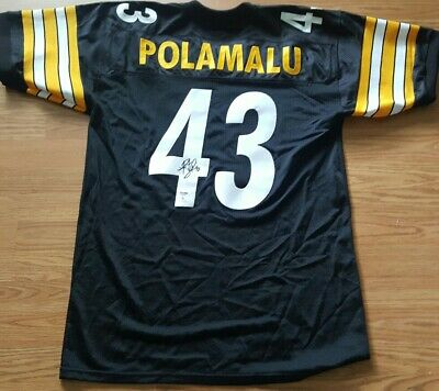 f4590a6bbd9 NICE Authentic Autographed Steelers Troy Polamalu Custom Jersey PSA COA  Football