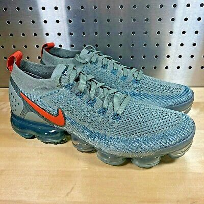 New Nike Air Vapormax Flyknit 2 Men's Dark Stucco Light Silver 942842-011 Sz 13