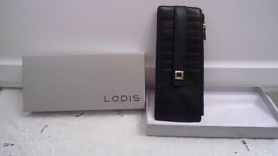 newest 2bfb2 61d52 LODIS ARTEMIS LEATHER Credit Card Wallet Case RFID Protection BLACK ...