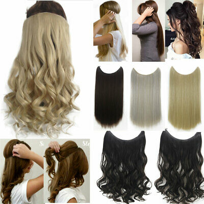 Halos Hair Extensions Invisible Natural Flip Hidden Secret Wire Crown No Clip in