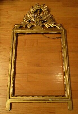 Rare Early 1900's Hand Carved Frame-Birds-Wreath-Arrows-Extremely Nice-18x34 In