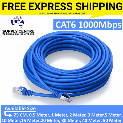 Ethernet Network Lan Cable CAT6 1000Mbps 1m 2m 3m 5m 10m 15m 20m 30m 40m 50m