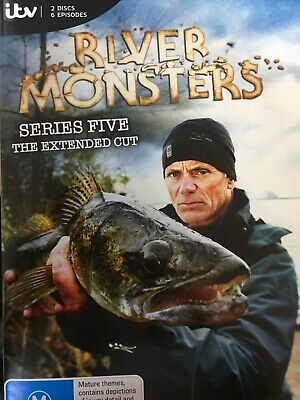 RIVER MONSTERS - Series 5 Extended 2 x DVD Set AS NEW Complete Fifth Season Five