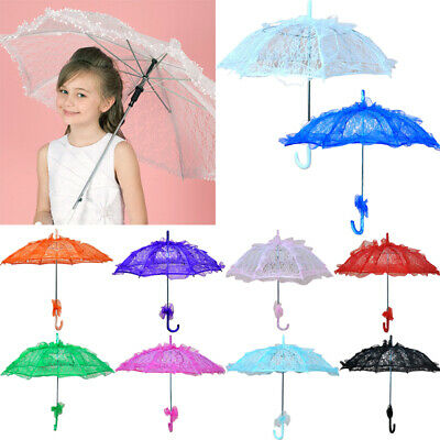 Special Lady Embroidery Lace Parasol Umbrella Bridal Party photography props Dec