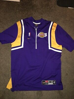 90863e3d292 Vintage Nike Authentic Los Angeles Lakers Warm Up Shooting Shirt Jersey  Size M