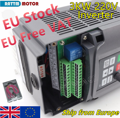 『EU┇UK』HY VFD 3KW 220V Inverter Variable Frequency Drive Converter Speed Control