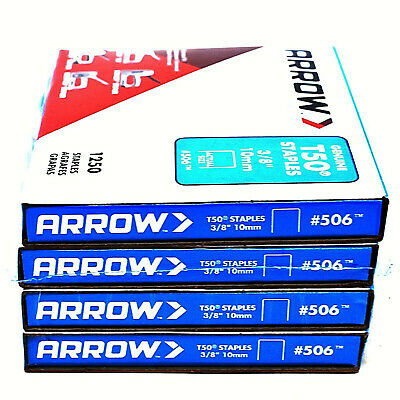 ARROW T50 GENUINE HEAVY DUTY UPHOLSTERY STAPLES 6mm 8mm 10mm 12mm 14mm TACKER