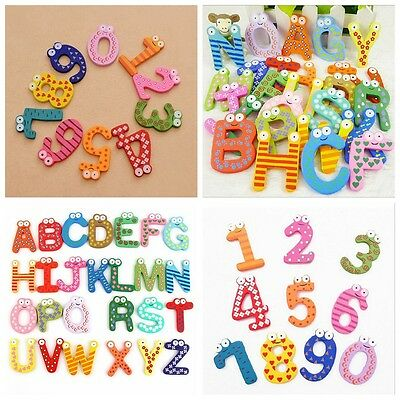 26 Magnetic Letters Numbers Childrens Kids Alphabet Spelling Fridge Magnets Hot