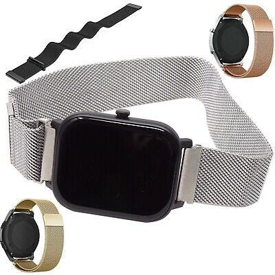 Cinturino bracciale polso 20mm MAGLIA MILANESE magnetico per Huawei Watch 2 MMM7