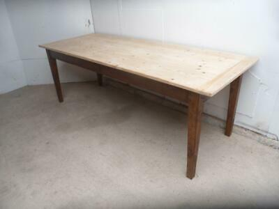 A Lovely Victorian Antique/Old Pine Waxed 10-12 Seater Kitchen Table
