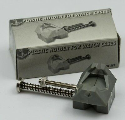 Watch movement case holder spring action repair tools clamp vice watchmakers new