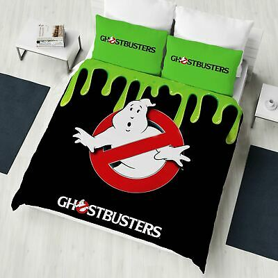 Ghostbusters Double Duvet Cover Set Official Bedding Glow In The Dark