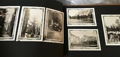Vintage 1930's ~ CALIFORNIA SCRAPBOOK  Photographs Wedding Yosemite Park Photos
