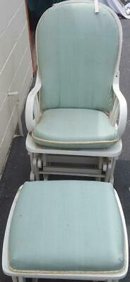 Fabulous Gently Used Glider Rocking Chair with Ottoman - GREAT FOR NURSERY - GDC