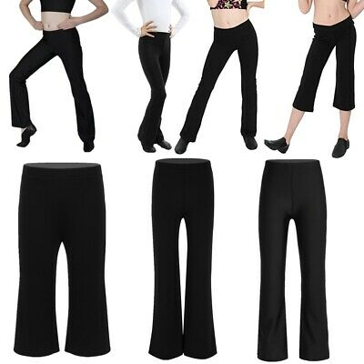 1a7c6a606d1ed Kids Girls Boys Classic Stretchy Loose Long Pants Trousers Jazz Dance  Dancewear