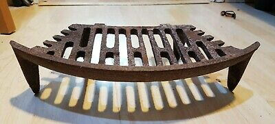 Antique Style Curved Cast Iron Fire Grate Basket Inglenook Open Fireplace
