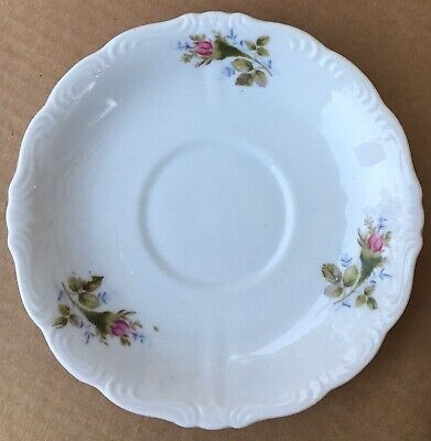 Royal Sealy China Pink Roses Rose Buds Flowers Saucer Japan