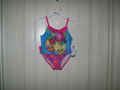 fcda9b3ecdf5b Shopkins Girls Two Piece Tankini Swimsuit Set With Free Goggles Size 4 $30
