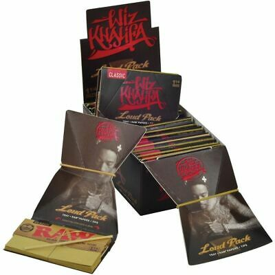 RAW Classic WIZ KHALIFA 1 1/4 - 5 PACKS - Rolling Papers Connoisseur Loud Pack