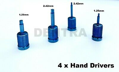 4 x Dental Implant Hand Driver Screws Torque Wrench Ratchet Long & Short