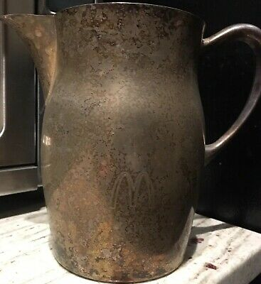 McDonalds Franchise Award Sheridan Silver Pitcher Jug No Sterling Coke Sign