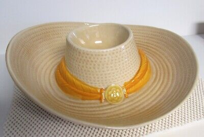 Pottery Sombrero Chip And Dip Bowl Hat Party Platter Serving