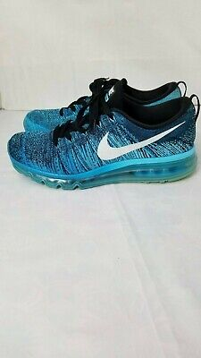 a5ca81f53c Nike Flyknit Air Max Mens Blue Lagoon Black Running Shoes 620469 003 Size 9