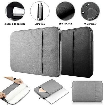 """Laptop Computer Sleeve Notebook Cover Case Canvas Bag Pouch 13 15"""" inch Macbook"""