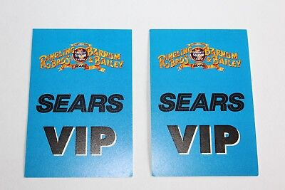 Ringling Brothers Barnum Bailey - 2 x Backstage Pass - VIP -  Free Postage -