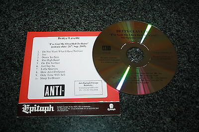 Bettye Lavette  - Europe promoCD / I've got My Own Hell To Raise