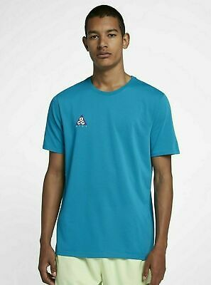 2141046e4 NIKE SPORTSWEAR ACG All Conditions Gear T-SHIRT AR0019 425 Turquois Mens  Large