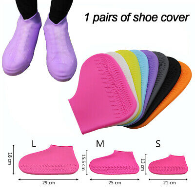 1pair Reusable Shoe Cover Waterproof Anti-Slip Silicone Rainproof  Shoes Covers