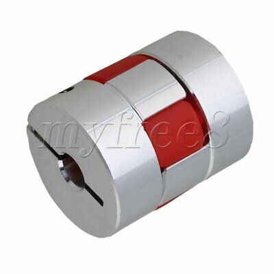 Silver and Red D25L30 M7 CNC Plum Coupling Shaft 30mm Length 25mm Diameter